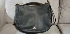 New Coach F31399 Elle Hobo Pebble Leather Handbag Purse Satchel Bag Black