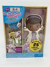DOC MCSTUFFINS Magnetic Wood Doll Playhouse Set Dress Up Clothes Girls New