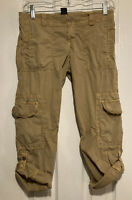 Sanctuary Clothing Tan Cargo Cropped Pants Size 25