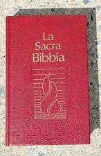 Italian Language Bible, La Sacra Bibbia, NRV, Burgundy Hardcover, Italian