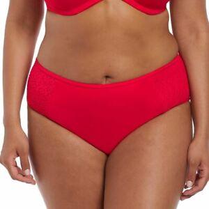 Elomi Swimwear Indie Mid Rise Bikini Brief/Bottoms Red 7534