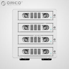 "ORICO Aluminum 4Bay USB 3.0 & e-SATA 3.5"" SATA Hard Drive HDD Enclosure Raid Box"