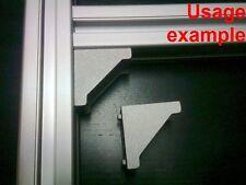 Aluminum T-slot profile 90 deg corner bracket 30x30-8mm, 8-set