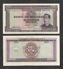 1967 Mozambique 500 Escudos Catalog # P118 Crisp Uncirculated Currency
