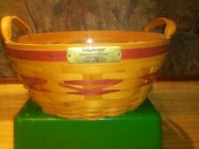 Longaberger 1999 Popcorn Basket Christmas Collection Edition Red Rb