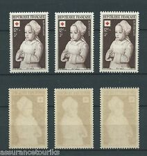 CROIX ROUGE - 1951 YT 914 3x - TIMBRES NEUFS** LUXE
