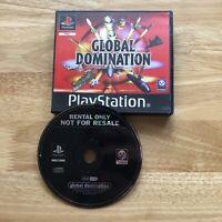 GLOBAL DOMINATION - PlayStation 1 PS1 - UK PAL - BLOCKBUSTER EX RENTAL Retro