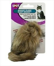 "Ethical Spot Shaggy Fur Mouse 4"" Cat Toy Longhair Fun Free Ship To The Usa"
