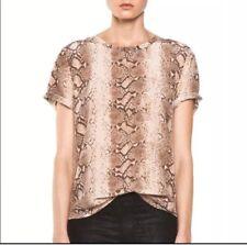 EQUIPMENT Femme Women s Nude Python  Riley  Silk T-Shirt Size S da47a4a59