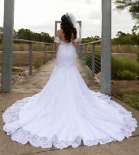 White Bride Dress size 10, Made in FRANCE