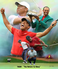 Tiger Woods RETURN TO GLORY Masters 2019 Historic Artistic PGA Golf POSTER Print