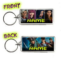 Disney Descendants 2. Personalised Name Number Plate Bag Tag Rectangle Keyring