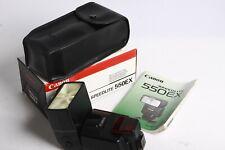 Canon Speedlite 550EX Blitzgerät Aufsteckblitz 550 EX mit Schachtel