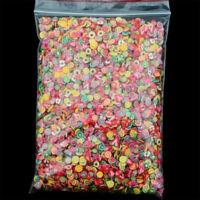 1000pcs 3D Fruit Animals flower Fimo Slice Clay DIY Nail Art Tips Sticker Decals