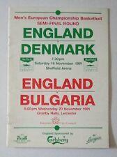 More details for european basketball semi final england v denmark & england v bulgaria 1991