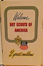 RAILROAD BROCHUR UNION PACIFIC WELCOME BOY SCOUTS OF AMERICA 1950