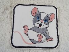 """Cute Mouse Rat Rodent 4-1/2"""" Embroidery Iron-on Custom Patch (E3)"""