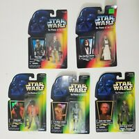 Lot of 5 - 1995 and 1996 Kenner Star Wars The Power of the Force Action Figures
