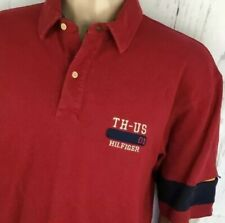 Vintage Tommy Hilfiger Polo Shirt TH-US Rugby 90s Spell Out Color Block Men XL