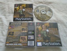 Tomb Raider The Last Revelation PS1 (COMPLETE)black label Lara Croft PlayStation