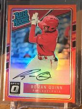 2017 Donruss Optic Rated Rookie #166 Roman Quinn Auto Orange Prizm /99