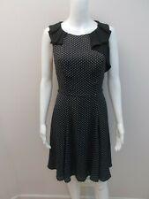 REVIEW BLACK/WHITE SPOT PRINT DRESS SIZE 8      (#Y1223)