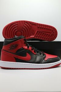 "Air Jordan 1 Mid ""Banned"" 554724-074 Men's Sizes & Gs Sizes 3-13"