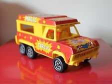 """Joustra 8"""" MAGIC CIRCUS Red/Yellow Toy Tinplate Truck Lorry VINTAGE 70's/80's"""