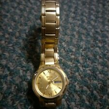 Ladies wristwatch SEIKO 5 automatic/21 jewels/gold