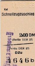 Vieja boleto ksl schnellzugzuschlag Berlín de 1969 (g4409)