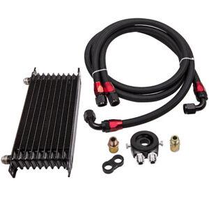 AN10 Universal Oil Cooler Kit -6061 Aluminum +Filter Adapter Hose Kit 01EGD003