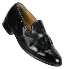 Barker Mens Clive Tassel Wingtip Loafer Size 10M Black Brogued Leather England