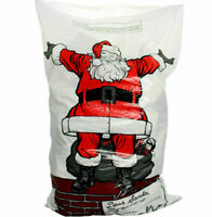 4x Giant Father Christmas Santa Sacks Stocking Bag Gift Present FATHER CHRISTMAS