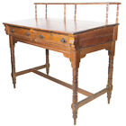 Antique 1800s Yellow Pine 2 drawer Stand Up Standing Mercantile / Railroad Desk