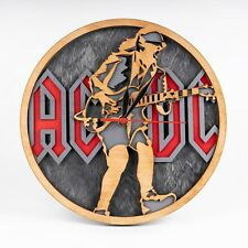 AC/DC Wooden Clock Hard Rock Band 3D Wall Clock Music Xmas Gift For Boy or Girl