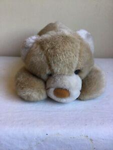 "Vintage 1989 Brown Laying Teddy Bear Dakin Inc. Plush Stuffed Animal Toy 3"" Tall"