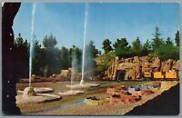 Vintage Postcard Disneyland CA Western Mine Train through the living desert C-6