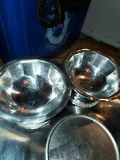 Halco small Stainless Steel Footed Bowls #1043 18-8 Japan FRUIT ICE CREAM small