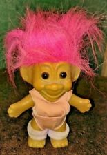 RUSS Troll Doll Exercise Yoga Leotard Leg Warmers Pink Hair 5 inch Vintage