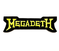 Megadeth Iron on Sew Embroidered Patch Badge rock Yellow Metal Dave Mustaine