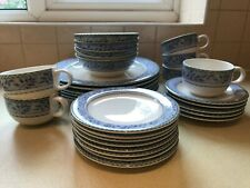 More details for set of royal doulton expressions rivoli teacups, saucers, plates and bowls