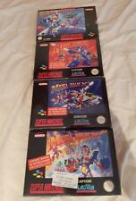 Mega Man X X2 X3 7 - BRAND NEW LOT-  SNES -  Megaman Super Nintendo - COLLECTORS
