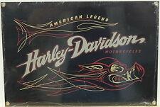 Harley Davidson Road Hog Porcelain Enameled Sign