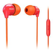 Cuffie Auricolari con Microfono Philips Originale SHE3575OP/10 Arancione e Rosso