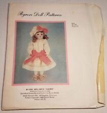"Byron Doll Patterns By 209 Bru Jne 9 ""Laurie"" Fits 10' Dolls Head to Toe, Cut +"