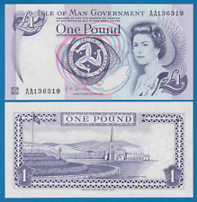 Isle of Man 1 Pound P 40c UNC Queen Elizabeth II Low Shipping Combine FREE! 40 c