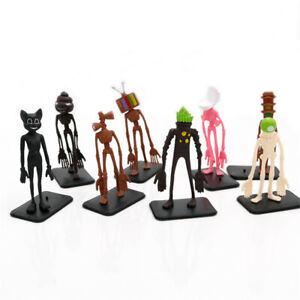 Siren Head Urban Legend 8 PCS Action Figure Toy Gift For Kids Cake Topper Decor