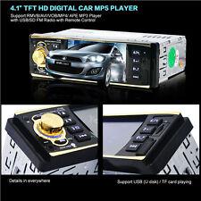 4.1 inch HD 1 DIN Bluetooth Car Stereo MP5 Player Auto Video Radio AUX/FM/USB/SD