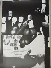 Filmplakat Das letzte Wochenende Original