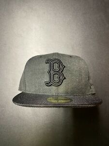 Boston Red Sox 59 Fifty Fitted Hat Size 7 1/2